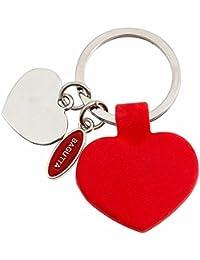 Bagutta Porte-clés Femme en Acier/Silicone Blanc/Rouge, 10 Grammes