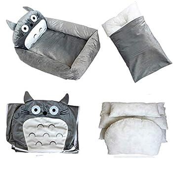 boymlx Mon Voisin Totoro Tissu De Coton, S, Totoro Lit pour Chien/Chat/Autres Petits Animaux Nid Animaux Chiens Hiver Peluche Coussin Maison Nid d'animal Grotte Lit pour Maison Matelas