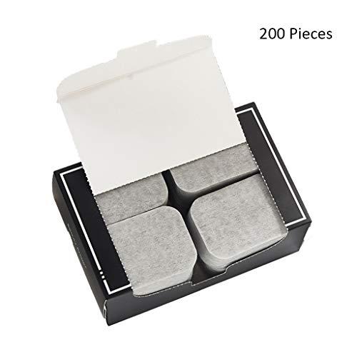200 stücke Gesicht Make-up Entferner Bambuskohle Wattepads Weiche Reinigung Makeup Reiner Baumwolle Doppelseitig Geschnitten (Color : Gray, Größe : 7 * 5cm)