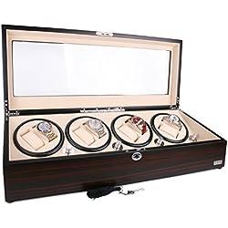 AXIS® Luxury Ebony Automatic 8 Watch Winder New with 12 watch storage