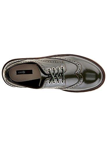 oodji Collection Damen Oxford-Schuhe Aus Lederimitat Grün (6900N)