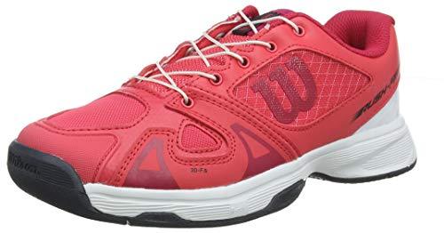 Wilson RUSH PRO JR QL, Scarpe da Tennis Unisex-Bambini, Rosa (Paradise Pink/White/Barberry), 34 EU