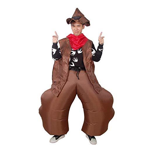 AMhuui Aufblasbares Kostüm, Cowboy Kostüm Cosplay Fantasy Fancy Halloween Party Geburtstag, Adult Funny