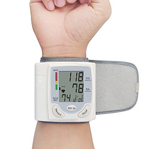 Pantalla LCD Digital muñeca presión arterial Monitor de la muñeca medidor de corazón Beat