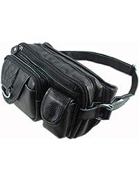 HOUYAZHAN Pack drôle Sac à bandoulière Poche Casual Sport Taille Sac à bandoulière  Taille, Sac en Peau de Vache… 0c4bb49363b