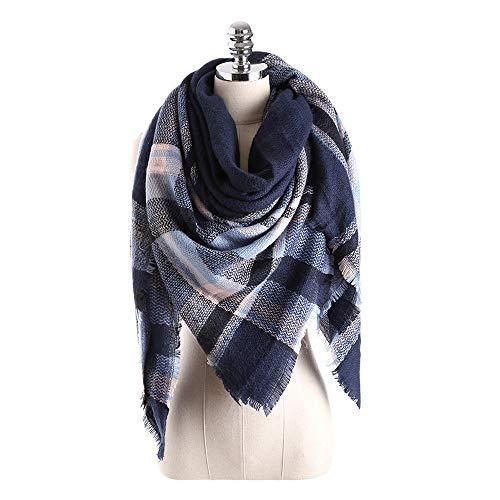 Vendita calda poncho e mantelle da donna,stole donna elegante cerimonia argento,donne inverno caldo colore cucitura lungo lana scialle plaid morbido collo sciarpa