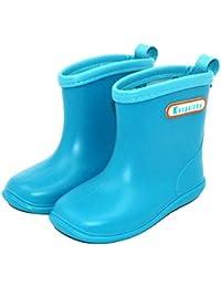 HAILI Kids Toddler Rubber Rain Shoes Soft Durable PVC Rain Boot Waterproof Non-Slip Rain Boots Wellies Wellington for Children Boys & Girls