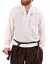 Mittelalter-Hemd Ludwig, weiß LARP-Kleidung von Battle-Merchant