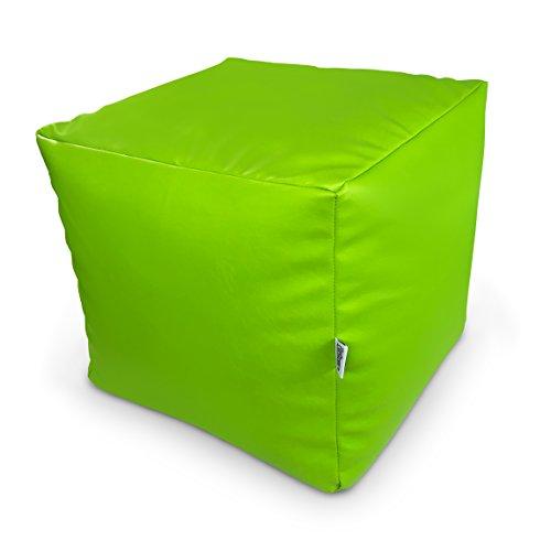 Natalia Spzoo Sitzwürfel aus Kunstleder zum sitzen spielen usw. super leicht (Apfelgrün)