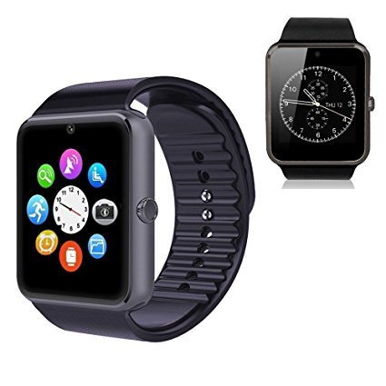 Montre Connectée,Willful Bluetooth Smartwatch Montre Sport Carte Sim de Soutien et Carte de TF Caméra avec Podomètre,Sommeil,Calories pour Samsung Sony Huawei Android pour Femme Homme Enfant Noir