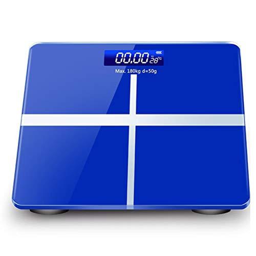 IOIOA Körperfettwaage - Monitor für die Körperzusammensetzung von Personenwaagen, viszerales Fett, Muskel, Display-Hintergrundbeleuchtung, schlankes Design,D