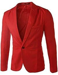 e Abbigliamento giacche Rosso Abiti Amazon it Uomo Apqz4xBUw