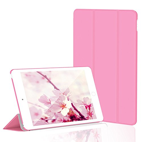 JETech Hülle für Apple iPad Mini 4, Schutzhülle mit Ständer Funktion und Auto Einschlafen/Aufwachen, Rosa