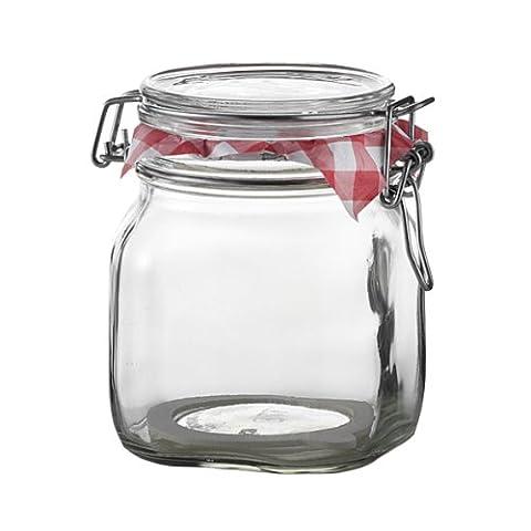 Bormioli Rocco Fido Behälter Vase, Hermetischer Verschluss 0.75 Liter, Glas, Transparent, 1 Stück