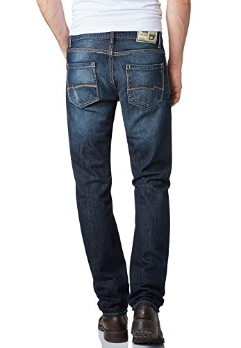 Pioneer Herren Straight Leg Jeanshose Lake Blau (dark used 3D-Effect 828)