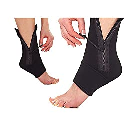 SIDDHMURTI Ankle Genie Zip Up Compression for Reducing Swelling & Supporting Ankle Weakness 1 Pcs