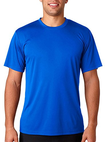 Hanes HanesApparel Men's Cool Dri UPF 50 Moisture Wicking T-Shirt, Deep Royal, Small (Wick Cool-dri)