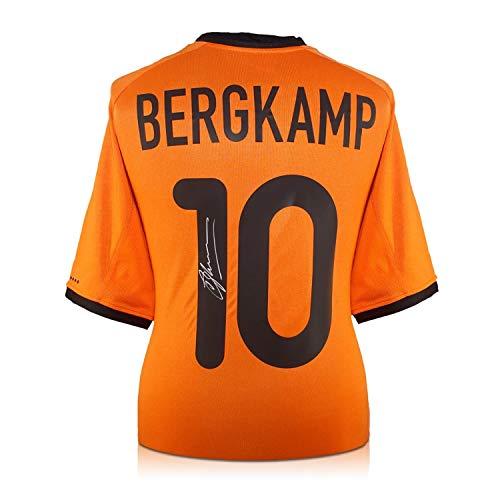 Exclusive Memorabilia Dennis Bergkamp 2000-02 Holland Heimtrikot signiert