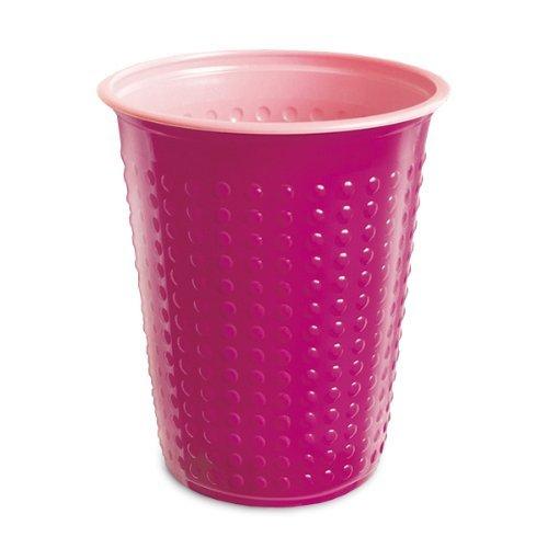 40 Pièce Gobelet Gobelets en plastique 200 ml divers Gobelet à deux couleurs Bicolore différentes couleurs W5 - rose-rosa, 200 ml