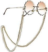 VanStar Pearl Glass Beaded Glasses Chain Cord Eyewear Chain Decorative Eyeglasses Sunglasses Glasses Strap Kee