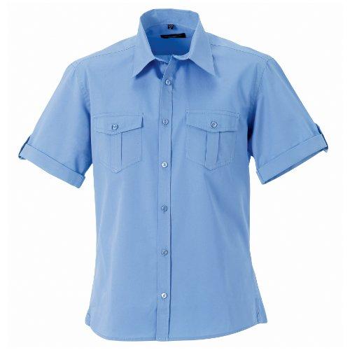 russell-camicia-maniche-corte-uomo-l-azzurro