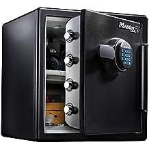 MASTER LOCK Coffre-fort [Ignifuge et Etanche] [XL 33,6 Litres] [Combinaison Electronique] - LFW123FTC - Pour vos documents d'identité, documentsA4, ordinateurs portables, bijoux