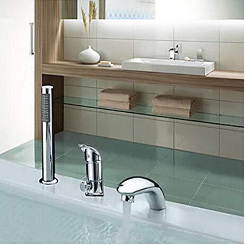SISHUINIANHUA Badewanne Wasserhahn-Contemporary Art Deco/Retro Country Chrome Weit Verbreitete Keramik-Ventil