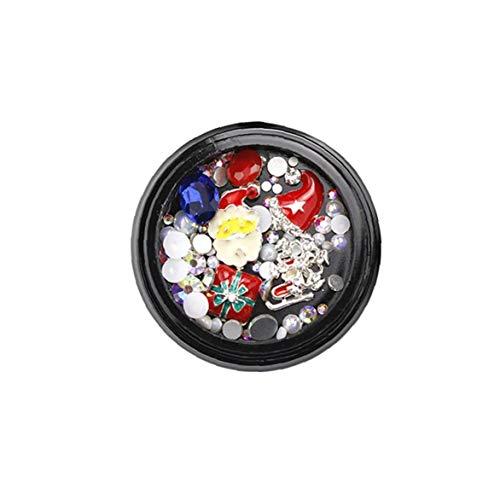 Weihnachten Halloween 3D Nagel-Kunst-Schmuck-Nagel-Dekoration-Zusatz-Mädchen-Nagel-Supplies ()