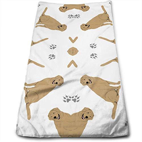 Osmykqe Winziges gelbes Labrador Retriever-Reise- und Sporttuch aus Mikrofaser, ultrakompakt, leicht, saugfähig -