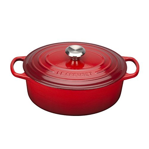 Le Creuset Evolution Cocotte Ovale in Ghisa, Ciliegia, 29 cm