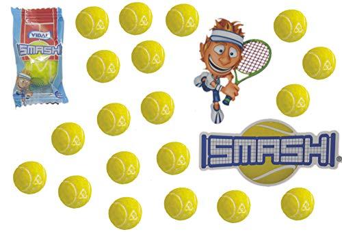 jameitop® Tennisball KAUGUMMI 20er XL Pack Tennis Bälle saurer Lime Geschmack