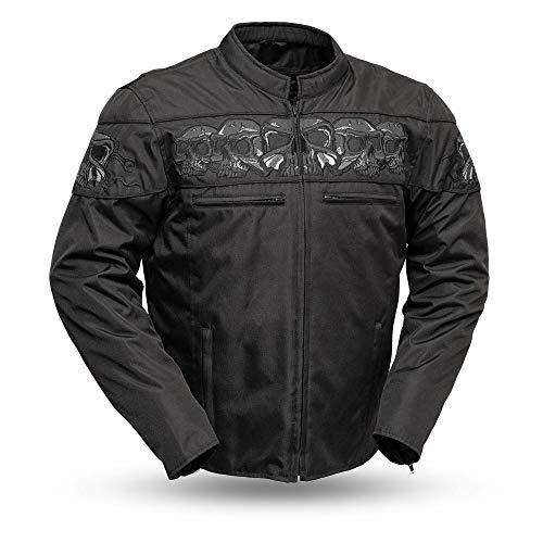 The Savage Skulls Herren Textil-Jacke