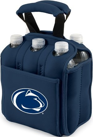 Six Pack Insulated Cooler - COLLEGIATE Penn State University Nittany Lions/Navy by Picnic Time