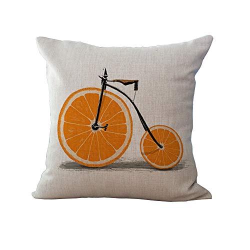MEHOUSE Housse de Coussin,Taie de Coussin,Ousse de Coussin Taie d'oreiller Linge de VéLo de Fruits Maison Embroidery Throw Pillow Case 45X45CM