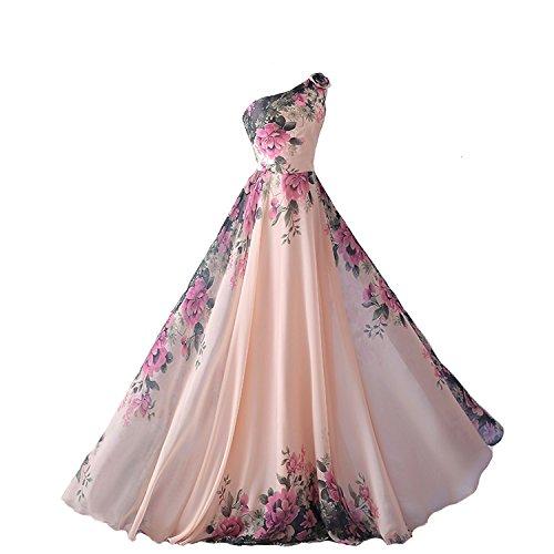 emmarcon abito da cerimonia donna damigella vestito lungo elegante floreale da festa...