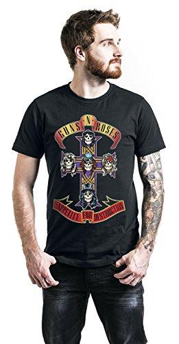 Guns N' Roses Appetite For Destruction - Cover T-Shirt Schwarz Schwarz