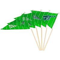 PRETYZOOM Banderas de Palo de banderines de Super Bowl Banderas de Palo de banderín para Celebraciones de Festivales de Eventos Deportivos de fútbol, 30 PCS
