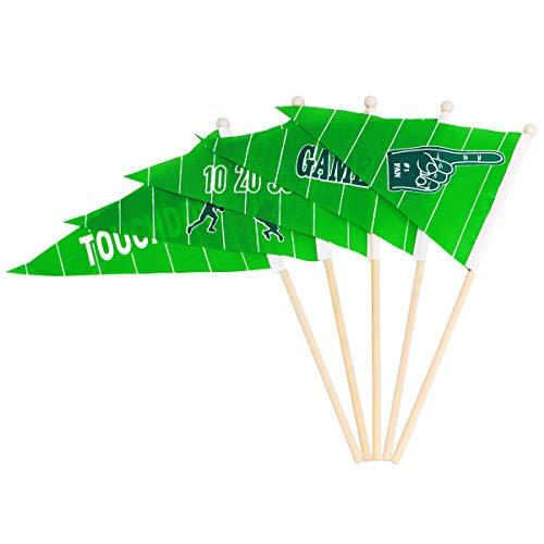 BESTOYARD Hand Stick Flags für Bar Sportveranstaltungen Grüne Dreieck Fußball Flaggen Festival Feiern Liefert 30 STÜCKE