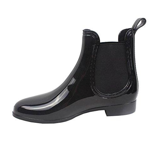 fereshte ,  Damen Chelsea Boots NO.568 Black