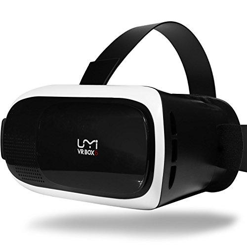 UMIDIGI VR BOX 6, 3D Occhiali Realtà Virtuale con Lenti Regolabili/Laccio Regolabile per Film 3D/Giochi per smartphone 4-6 pollici - Bianco e Nero