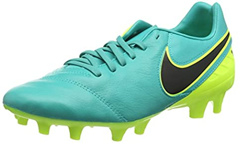 NIKE Tiempo Mystic V FG, Chaussures de Football Homme, Noir (Clear Jade/Black/Vert Volt), 42.5 EU