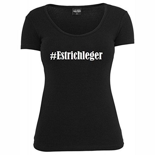 T-Shirt #Estrichleger Hashtag Raute für Damen Herren und Kinder ... in den Farben Schwarz und Weiss Schwarz