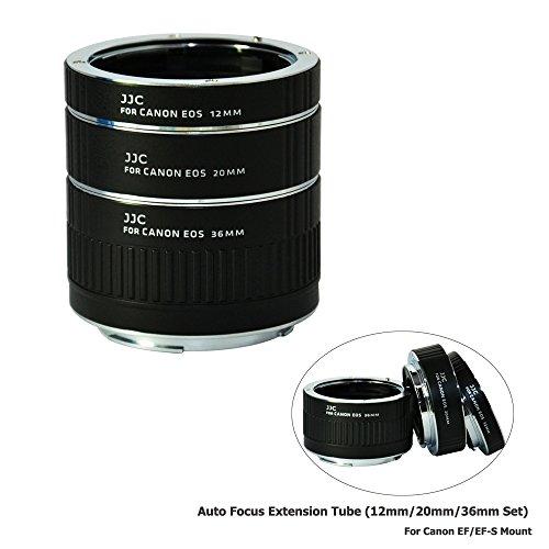 JJC 12mm/20mm/36mm Sets Metal Tubo de Extensión TTL Enfoque Automático AF para Lentes Canon EF y EOS DSLR Cámaras