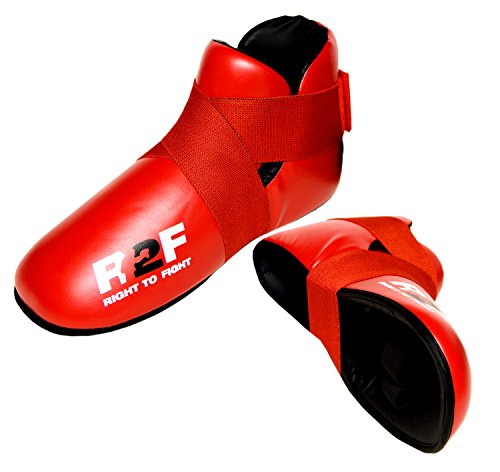 R2F Sports Semi Contatto Kickboxing MMA Stivali Taekwondo Arti Marziali Sparring Scarpe Red