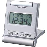 Proficell - Reloj despertador digital para viaje gris