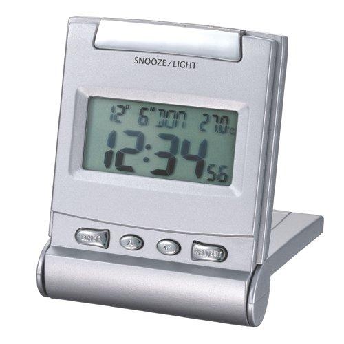 Proficell - Reloj Despertador Digital Viaje Gris