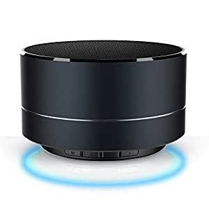 Bluetooth Speaker 4.0 ,Portable Wireless Bluetooth Speaker System with Microphone, AM/FM Radio, and USB Charge Port (BLACK)