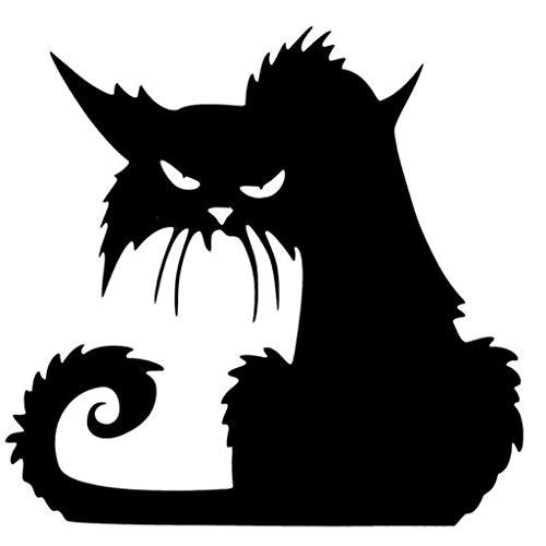 wandaufkleber wandtattoos abnehmbare Wandaufkleber Halloween schwarze Katze Dekor Wandtattoo Sticker Wanddeko (A,13.5x14.5cm)