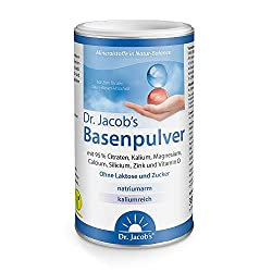 Dr. Jacob's Basenpulver I 300 g Dose Original Citrat-Basen-Pulver vegetarisch I Nahrungsergänzung Kalium Calcium Magnesium Zink Vitamin D I für Muskeln, Knochen, Energie und normalen Blutdruck