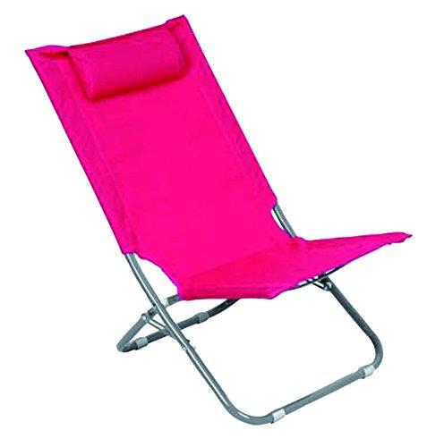 Jja JJ118081 Chaise de Plage Caparica Framboise - 9 x 103 x 50 cm